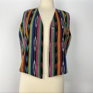 Southwestern print vest in a rainbow of colors